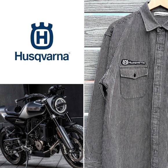Husqvarna Denim Motorcycle Shirt - L